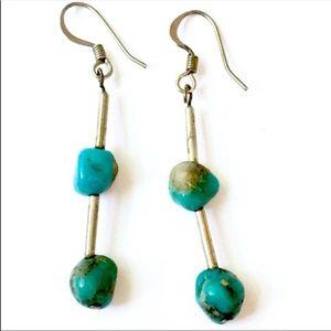 Vintage Navajo turquoise nugget earrings